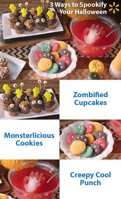 Scare up some yummy Halloween fun! Make your Halloween party scarily memorable with these fearfully easy treat ideas: Add a zombie hand to a standard cupcake and take it from tasty to frightfully delicious. Make your cookies spooky good with cake mix and some eerie eyeballs. Give your punch a touch of the chills with a frozen ice hand. Check out more entertaining recipes, tips and ideas to make your Halloween celebration a monster.:
