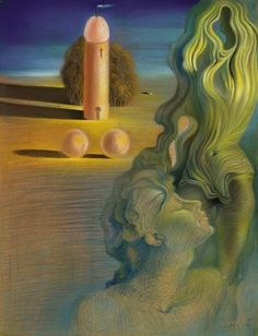 """The Anthropomorphic Tower"", by Salvador Dali at The Art Institute of Chicago. My favorite Dali painting. Seeing it was so excitinggg. Salvador Dali Gala, Salvador Dali Kunst, Salvador Dali Paintings, Art Visionnaire, Spanish Artists, Art Institute Of Chicago, Art Moderne, Pablo Picasso, Surreal Art"