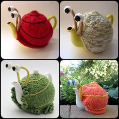 knitting Snail tea cosy with pattern