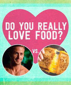 Food vs Hunk. Who/What would you choose? Click on the link... It is so funny what/who you'd rather choose!