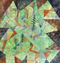 Paul Klee - Wald Bau (Forest Construction), 1919 #arte