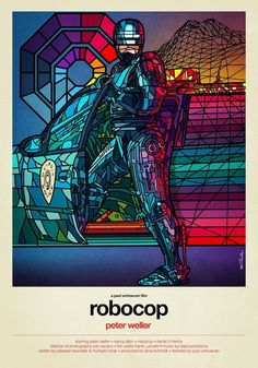 STAINED GLASS POSTERS OF FAMOUS 80S MOVIES