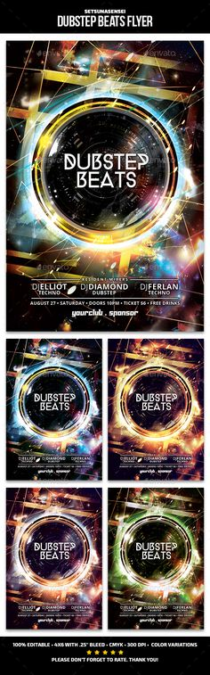 Buy Dubstep Beats Flyer by SetsunaSensei on GraphicRiver. Dubstep Beats Flyer This flyer is perfect for promoting your next techno/electro/dubsteb musical night party. Dubstep, Techno, Flyer Template, Flyers, Beats, Graphic Design, Templates, Trance, Abstract