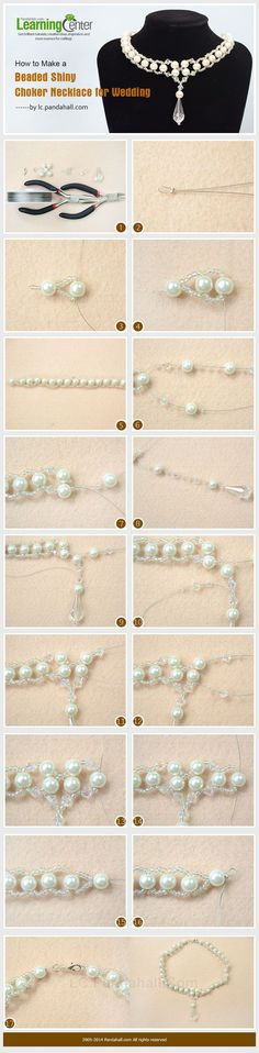 How to Make a Shiny Beaded Pearl Choker Necklace for Wedding