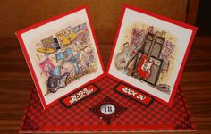 Twisted Easel 18th Birthday card