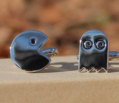 Pac Man Video Game Cufflinks  Free & Reduced by StyledGents