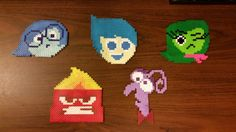 My son got a magnet for Christmas with these cute icons of the Inside Out emotions. I decided they'd be good for a perler project. For them most part I'm okay with them. After seeing the final resu...