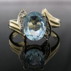 #Blue #Topaz #Diamond 9k Gold Ring €359 #Jewelry #The #Antiques #Room #Galway #Ireland Vintage Diamond, Vintage Rings, Blue Topaz Diamond, Galway Ireland, Beautiful Rings, Heart Ring, Gold Rings, Gemstones, Engagement