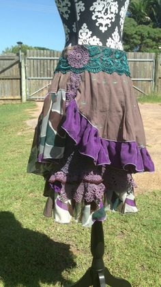 upcycled recycled layered ruffled more girl by VanillaPearFashion