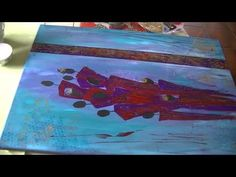 """Great tutorial by Sabine Belz. Part 3 of 3: Abstract acrylic painting """"Figures"""""""