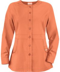 Butter-Soft Scrubs by UA™ Ladies TALL Button Front Warm-Up Jacket