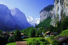 Waterfalls! Staubbach falls Switzerland