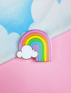 XL Rainbow Brooch