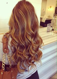 Strawberry blonde highlights! | The HairCut Web!                                                                                                                                                      More