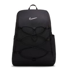 Black Backpack, Leather Backpack, Black Nike Joggers, Workout Essentials, Accesorios Casual, Running Shoes Nike, Nike Tops, Black Nikes, Fashion Backpack