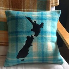 Love cushions made from salvaged vintage kiwi wool blankets!