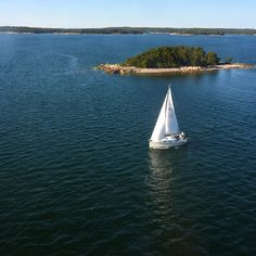 Sailing in Turku Archipelago in Finland