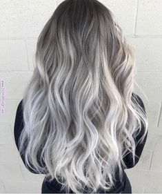 Gray ombre hair hair в 2019 г. grey ombre hair, grey hair и White Ombre Hair, Silver Ombre Hair, Grey Blonde Hair, Ombre Hair Color, Brown To Grey Ombre, Brown And Silver Hair, Grey Hair Colors, Grey Platinum Hair, Purple Grey Hair