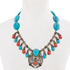 """Taos Chic"" Crystal Drop Bib Necklace"