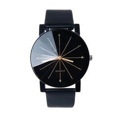 Women Analog Quartz Dial Hour Digital Watch Leather Wristwatch Round Case Time Clock Lady Gift