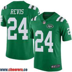 22125c892 Men s New York Jets  24 Darrelle Revis Green 2016 Color Rush Stitched NFL  Nike Limited