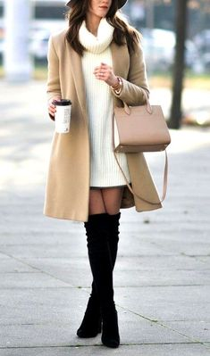27 Classy Winter Outfit Ideas For Shine On Gloomy Day Classy Winter Outfits, Winter Outfits Women, Winter Coats Women, Winter Fashion Outfits, Fall Outfits, Autumn Fashion, Classy Winter Fashion, Winter Office Outfit, Cute Winter Coats