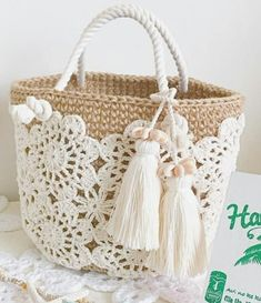 Trendy Ideas for knitting bag sewing crochet Crochet Shell Stitch, Crochet Tote, Crochet Handbags, Crochet Purses, Crochet Stitches, Free Crochet, Knit Crochet, Crochet Patterns, Sewing Patterns