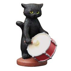 DECOLE Chat Noir Black Cat Drum Orchestra Music Mini Figure Figurine Cute Japan #CHATNOIR
