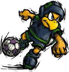 Hammer Brother - Mario strikers Charged