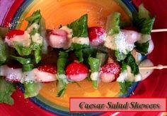Caesar Salad Skewers  http://www.momspantrykitchen.com/caesar-salad-skewers.html