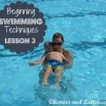 Beginning Swimming Techniques: Lesson 3 (rolling onto back from front crawl, beginner backstroke arms,)