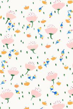 "Floral painterly pattern ""April Showers"". #design #pattern"