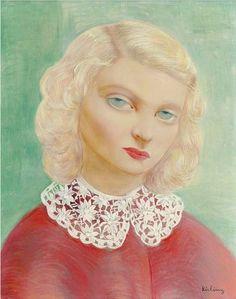 Moise Kisling, (1891-1953), 1938, Portrait with a collar.  on ArtStack #moise-kisling #art