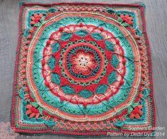 Sophie's Garden Crochet - My Yahoo Image Search Results Crochet Square Patterns, Crochet Blocks, Crochet Squares, Crochet Granny, Knit Crochet, Crochet Afghans, Mandala Au Crochet, Mandala Pattern, Crochet Doilies