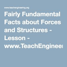 Fairly Fundamental Facts about Forces and Structures - Lesson - www.TeachEngineering.org