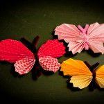 Einfache Schmetterlinge.  #Basteln #DIY #Kinder