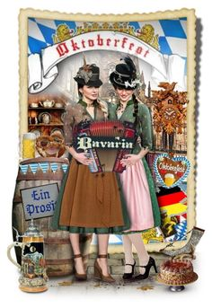 """""""Oktoberfest - Bayern"""" by duchessbee ❤ liked on Polyvore featuring art and 161"""