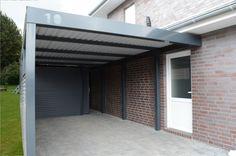 Stahlcarport mit ausgelaserter Hausnummer.  #Stahlcarports #Metallcarports #exterior #exteriordesign  #carport