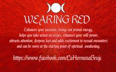 Wearing Red by La Hermosa Bruja