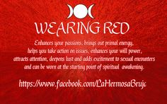 Wearing Red by La Hermosa Bruja