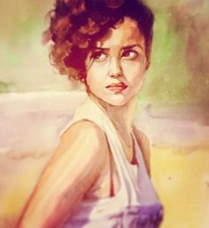 A girl on the beach by Alma - Use the 'Create Similar' button to commission an artist to create your own artwork.