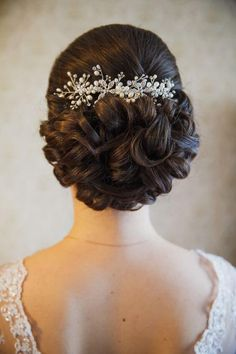 Bridal hair (up do) and make up for wedding - look by elstil Bridal Hair Up, Classic Wedding Hair, Long Hair Wedding Styles, Wedding Hair And Makeup, Long Hair Styles, Wedding Up Do, Wedding Beauty, Unique Wedding Hairstyles, Bride Hairstyles