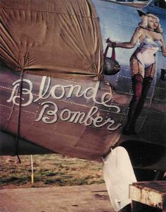 Blonde Bomber  --  #44-6307, B-17 of the 837th Squadron.  Shot down 25-Nov-44.  Abandoned by crew on return due to battle damage.