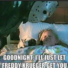 Just not funny. Best Horror Movies, Horror Movie Characters, Scary Movies, Horror Villains, Funny Friday Memes, Funny Memes, Hilarious, Slasher Movies, Horror Icons