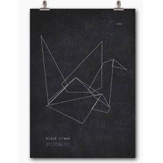Black Crane poster i gruppen Tavlor & Posters / Posters hos RUM21.se (115803)
