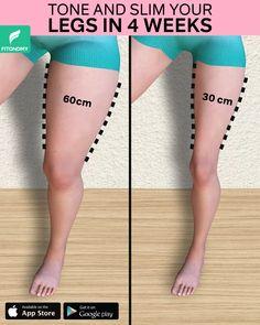 Slim Legs Workout, Body Weight Leg Workout, Sixpack Workout, Full Body Gym Workout, Waist Workout, Butt Workout, Fitness Workouts, Gym Workout Videos, Gym Workout For Beginners