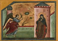Guido da Siena (active 1262–1270s), Annunciation, Tempera on wood panel | Princeton University Art Museum (PUAM)