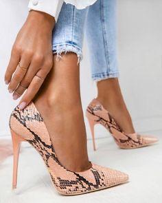 Shoes in 2019 shoe boots, high heels, fashion heels. High Heel Pumps, Pumps Heels, Stiletto Heels, Sexy Heels, Women's Stilettos, Snakeskin Heels, Leather Pumps, Strap Heels, Cute High Heels