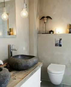 On walls Fresco lime paint, color River Silt. Sealed with dead Flat Ecosealer, water repellant and washable. Bathroom Paint Colors, Wall Paint Colors, Wall Colours, Rustic Bathroom Decor, Bathroom Interior Design, Bad Inspiration, Bathroom Inspiration, Lime Paint, Bathroom Wall Cabinets