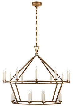 Visual Comfort & Co. Darlana Large Two-Tiered Ring Chandelier